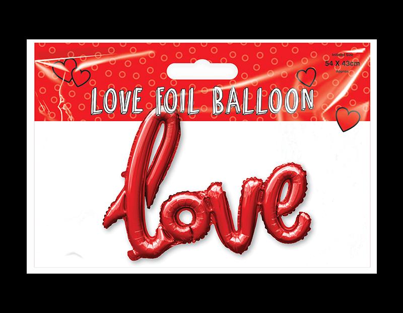 Valentines Day Love Foil Balloon