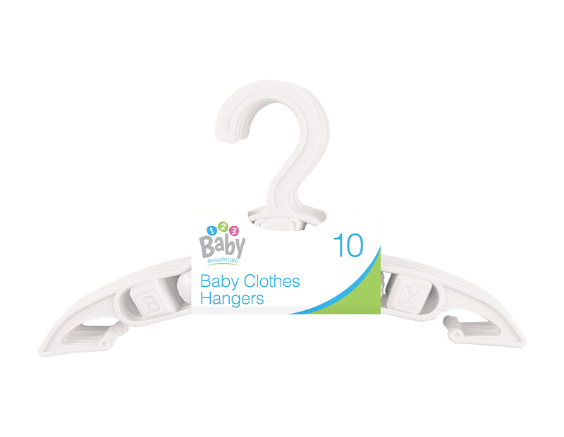 White Baby Clothes Hangers - 10 Pack