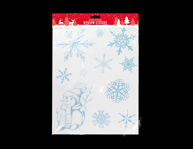 Glittered Christmas Window Stickers