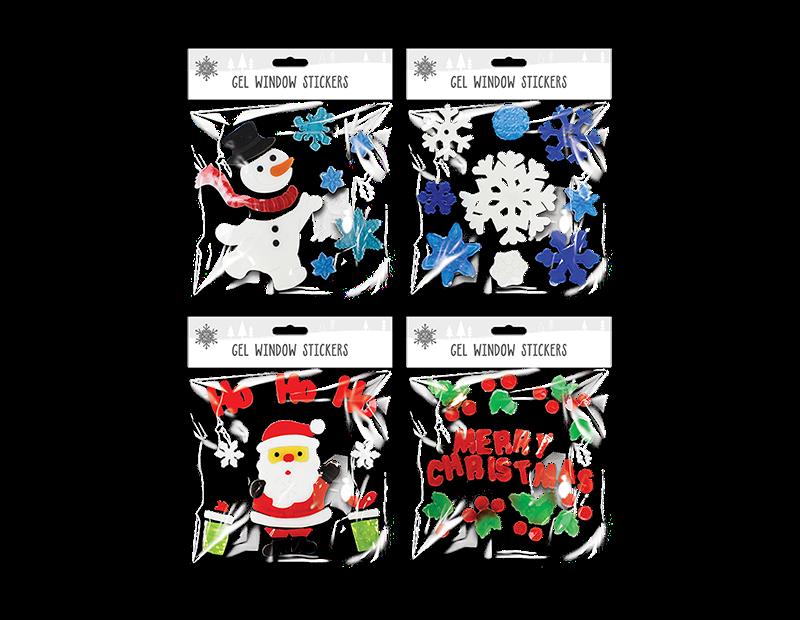 Christmas Gel Window Stickers