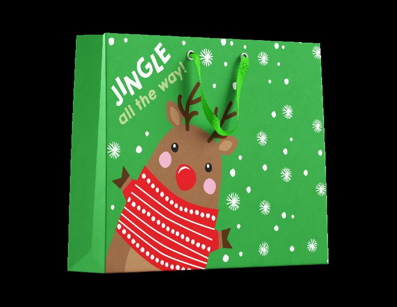 Cute Christmas Medium Gift Bags - 2 Pack