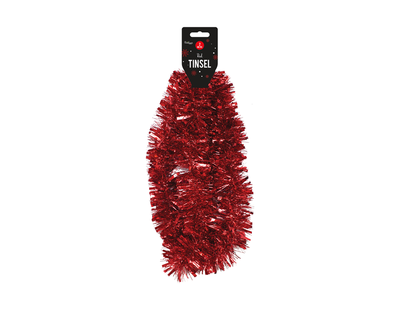 Red Christmas Tinsel 2m