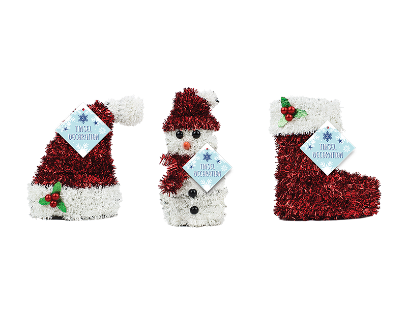Christmas 3D Tinsel Table Decoration
