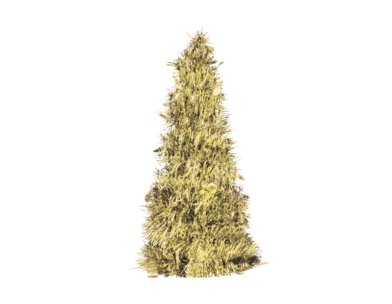Tinsel Christmas Tree 35cm