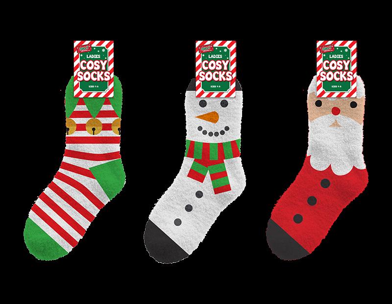 Ladies Cosy Christmas Socks