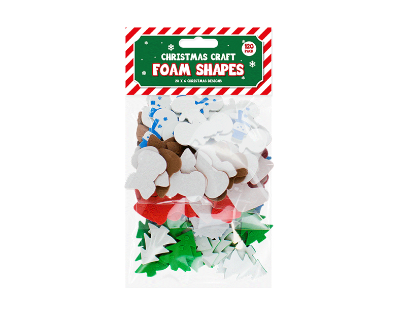 Christmas Craft Foam Shapes - 120 Pack