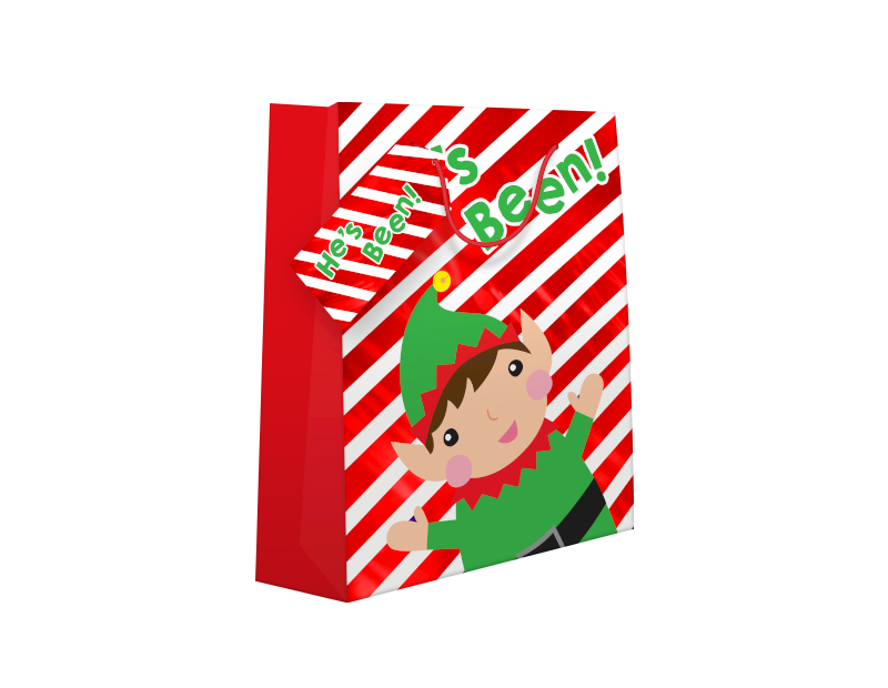 Cute Christmas Luxury Medium Gift Bag