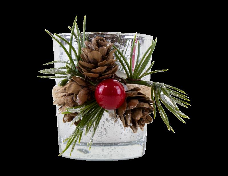 Christmas Glass Candle Holder