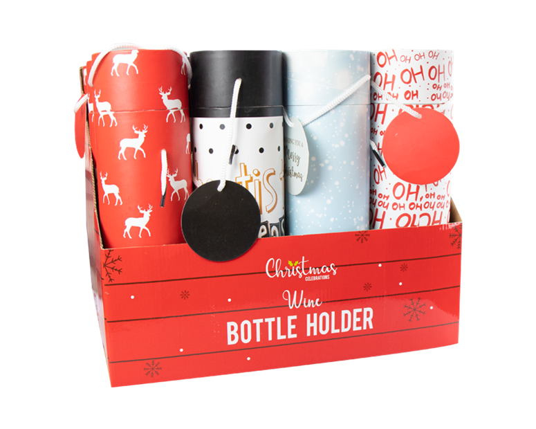 Christmas Bottle Holder With PDQ