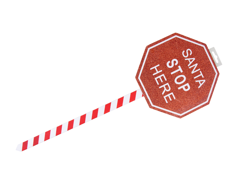 Christmas Santa Stop Here Sign