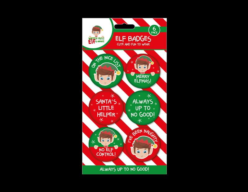 Elf Badges - 6 Pack
