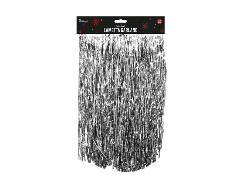 Silver Lametta Garland 1.2m