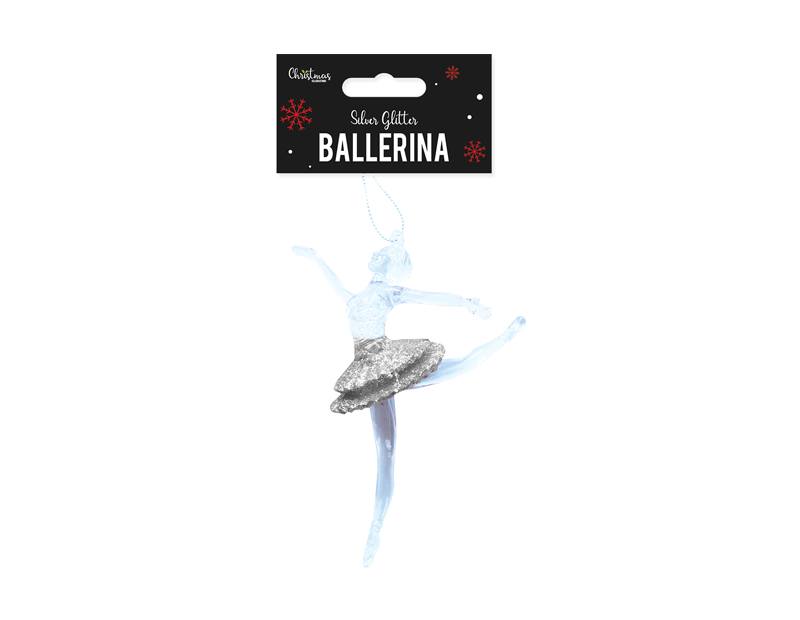 Silver Acrylic Ballerina Decoration