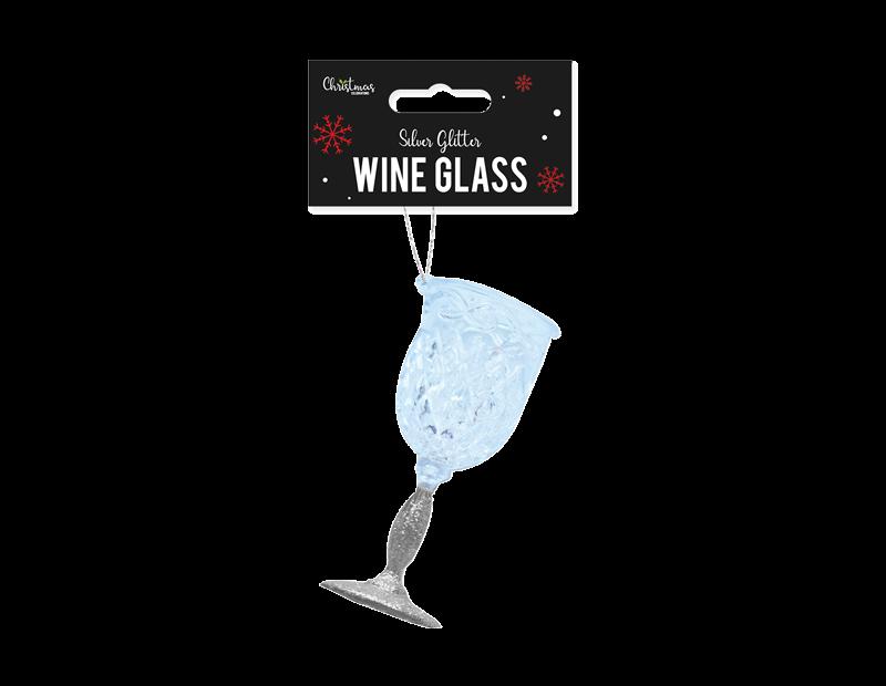 Silver Acrylic Wine Glass