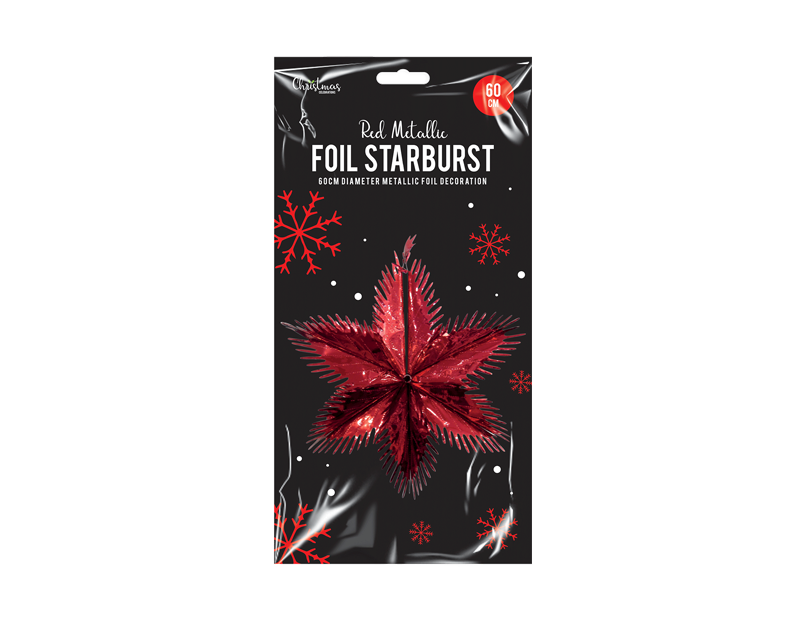 Red Foil Starburst