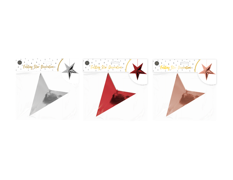 Folding Christmas Star Decoration