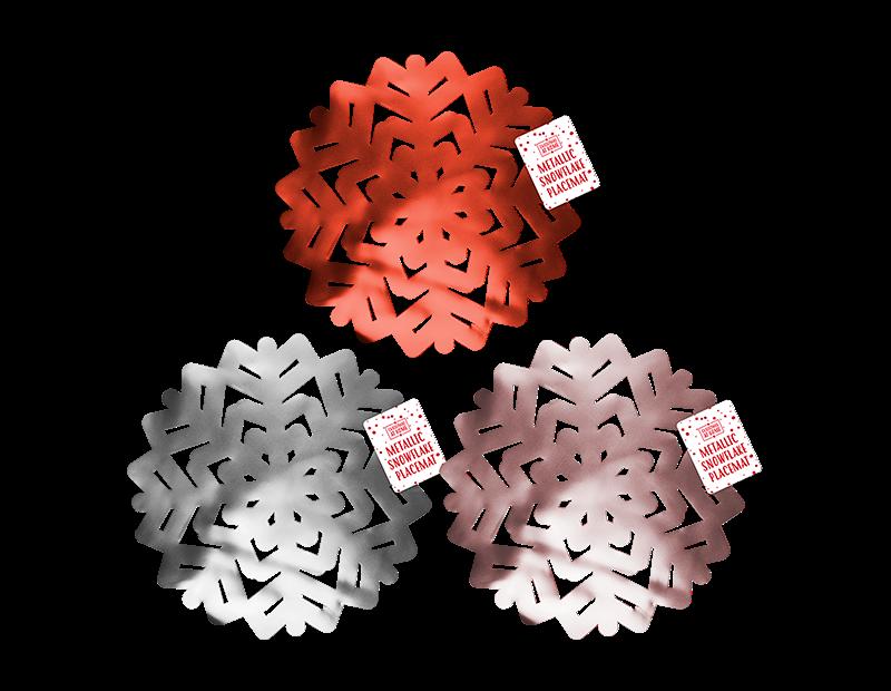 Metallic Snowflake Christmas Placemat