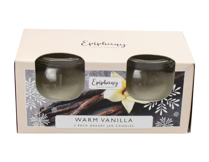 Creamy Vanilla Bakery Jar Candles - 2 Pack