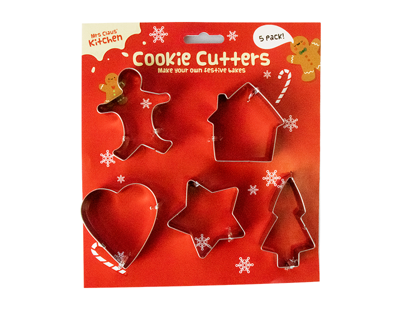 Xmas Cookie Cutters 5 Pack