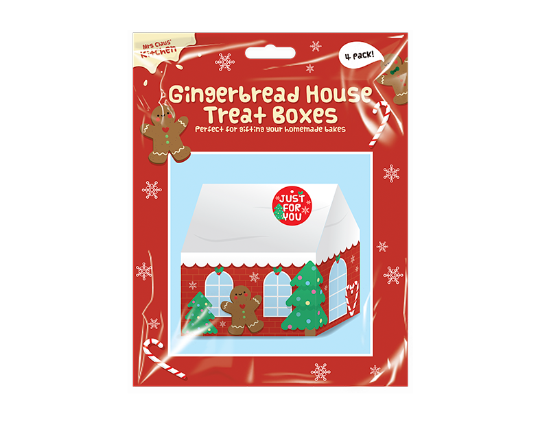 Gingerbread House Treat Boxes 4 Pack