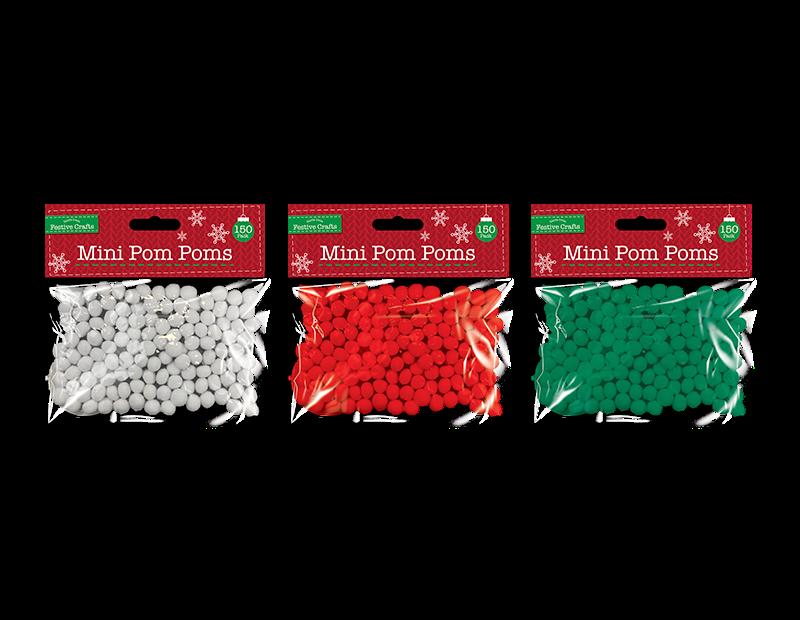 Mini Pom-Poms 150 Pack