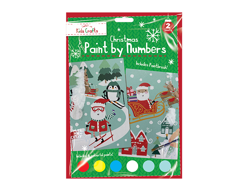 Xmas Paint By Numbers 2 Pack