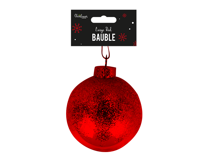 Red Extra Large Bauble Dia 12cm