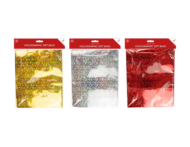 Holographic Large Gift Bags 2 Pack