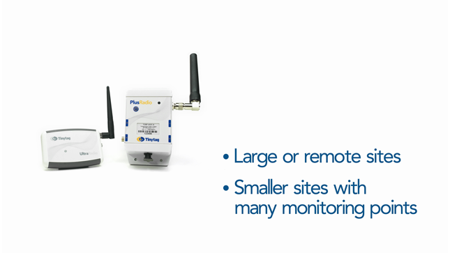 Large or remote sites, smaller sites with many monitoring points