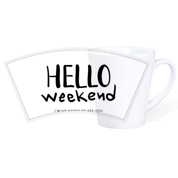 Hello Weekend - 12oz Ceramic Latte Mug