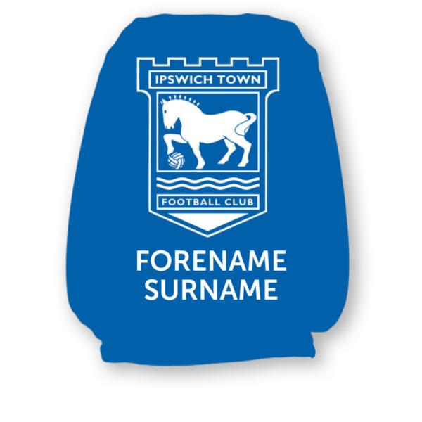 Ipswich Town FC Mono Crest Headrest Cover