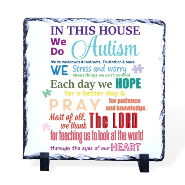 In This House - Slate Photo Panel Square