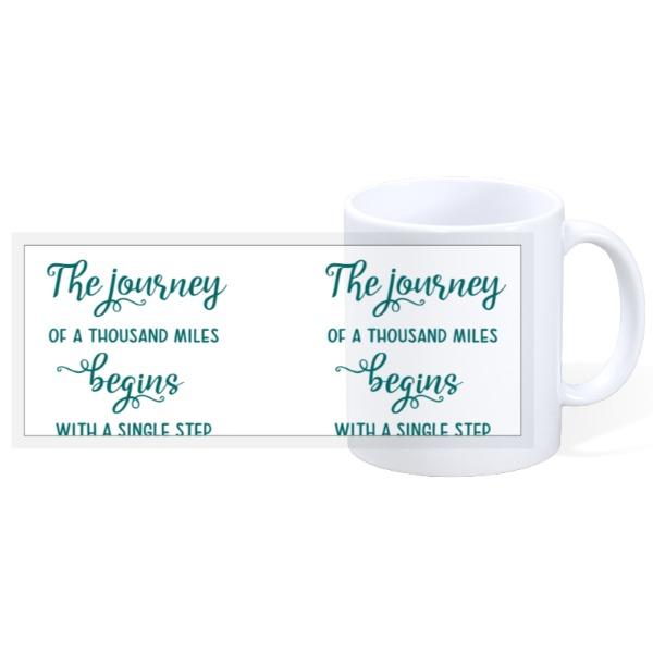 Journey of 1,000 Miles Mug - 11oz Ceramic Mug