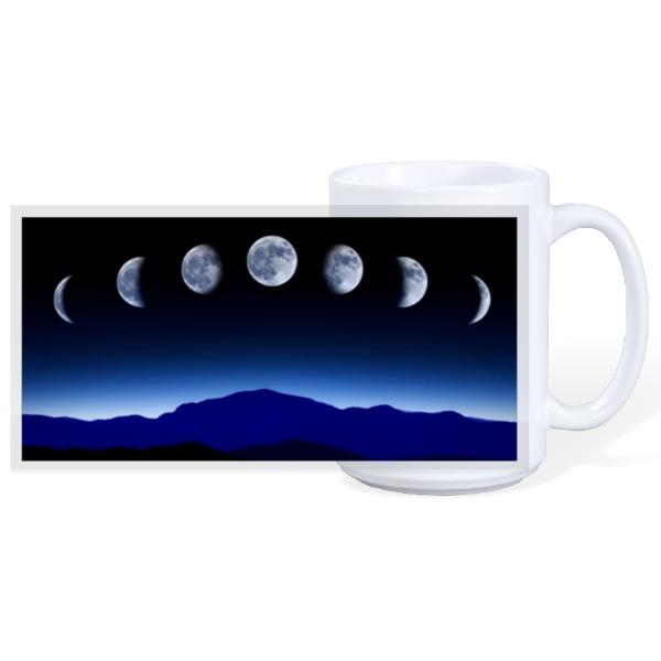 Moon Phase Mug - 15oz Ceramic Mug