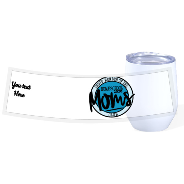 MomHS 2020 - Travel Wine Cup Stainless Steel White 12oz