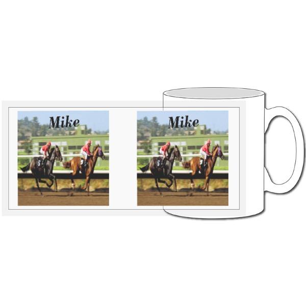 Horse Racing Personalised - 10oz Ceramic Mug