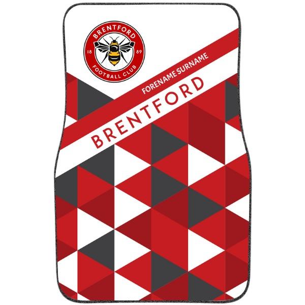 Brentford FC Patterned Front Car Mat