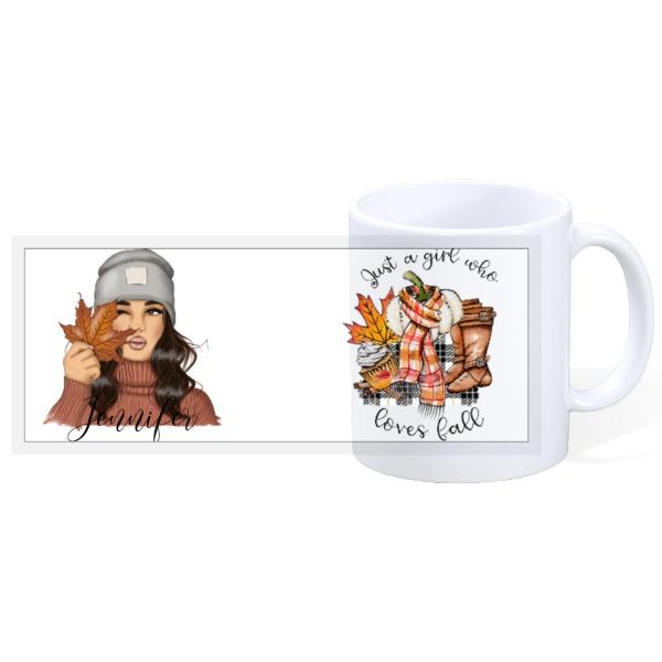 Fall Girl  - 11oz Ceramic Mug
