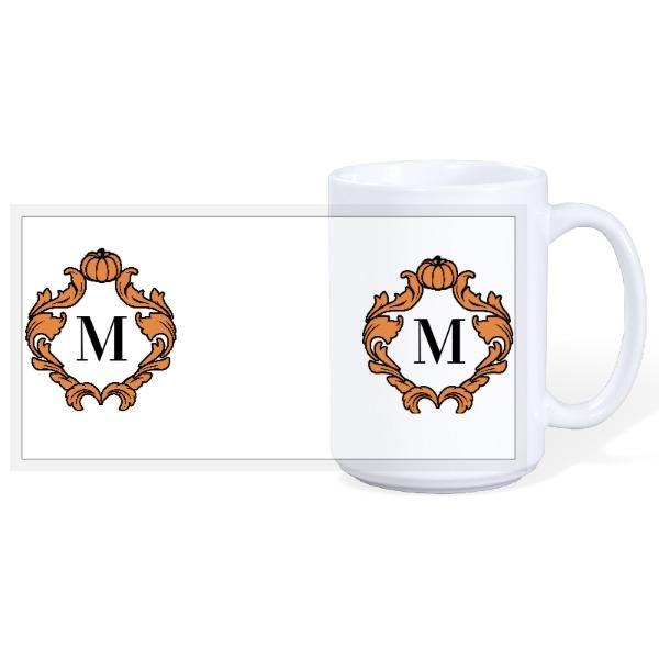 Pumpkin Monogram - Halloween 15oz Ceramic Mug