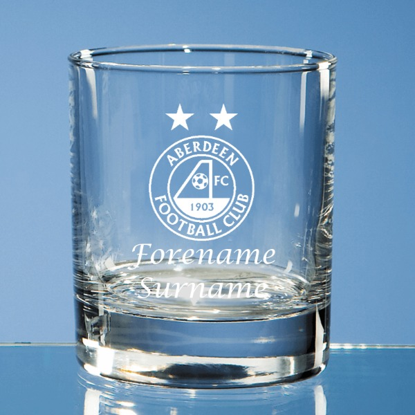 Aberdeen FC Personalised Crest Whisky Tumbler