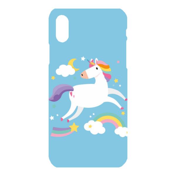 Unicorn iPhone X Hard Back Phone Case