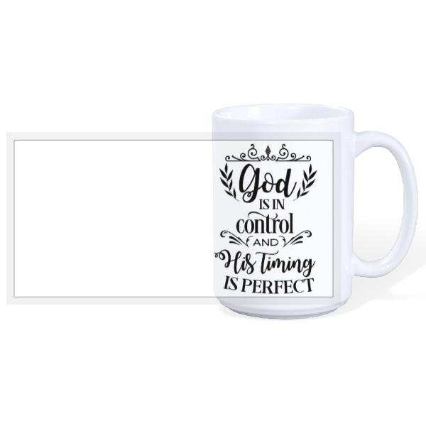 God's in control - 15oz Ceramic Mug