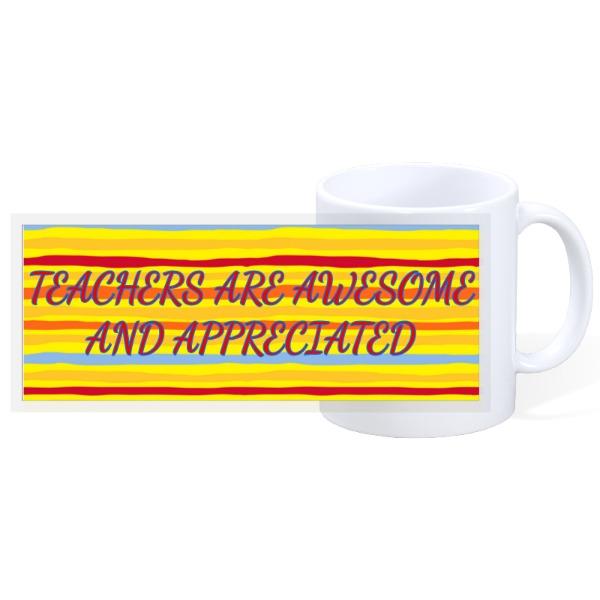 TEACHERS ARE AWESOME YELLOW - 11oz Ceramic Mug