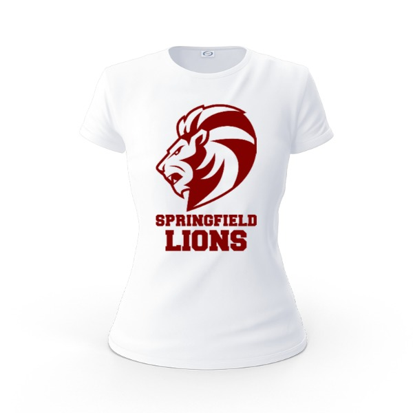 Springfield Lions Team Jersey - Ladies Solar Short Sleeve Large Print Area