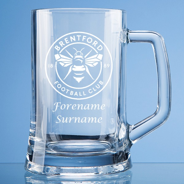 Brentford FC Crest Large Plain Straight Sided Tankard