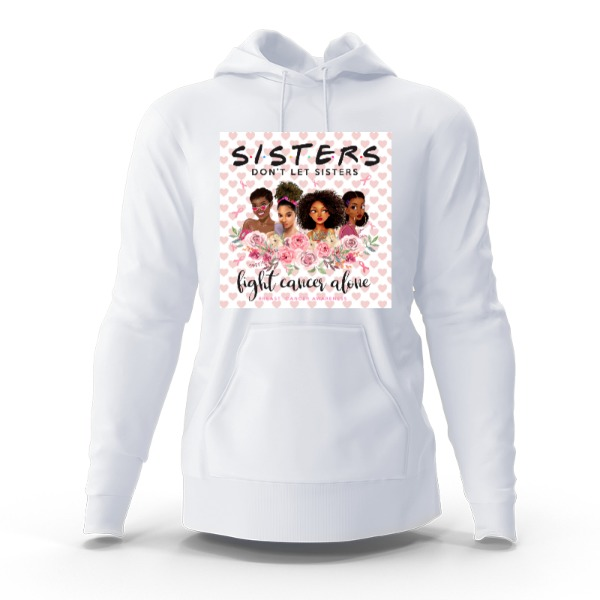 Breast Cancer sister fight - Hoody Sweatshirt Large Print Area