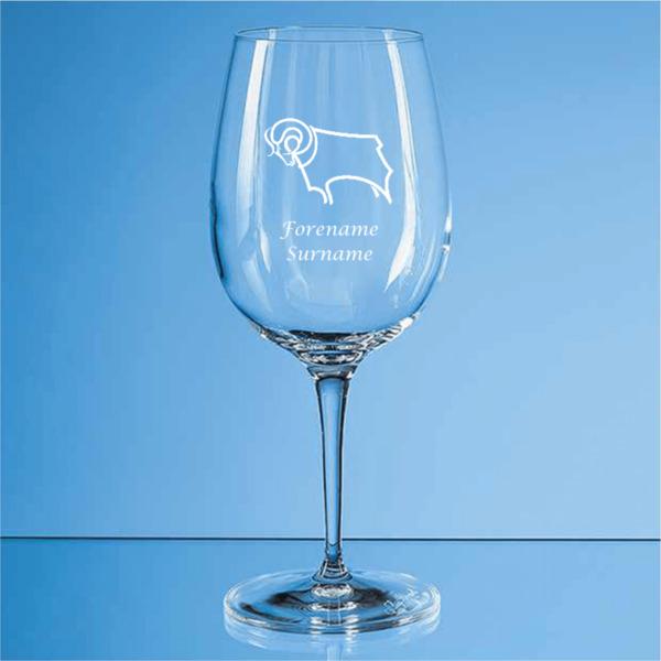 Derby County Crest Allegro Wine Glass