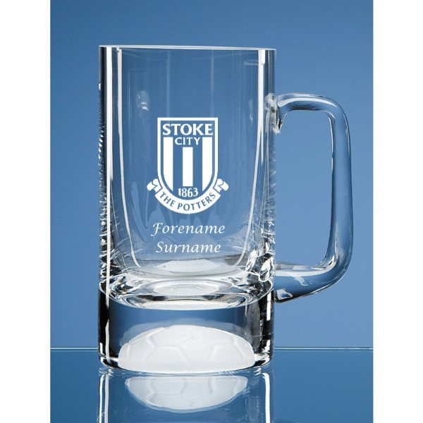 Stoke City FC Crest Half Pint Ball Base Tankard