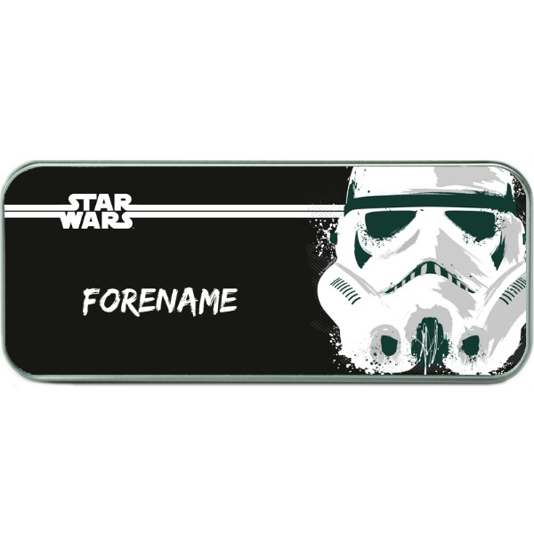 Star Wars Storm Trooper Paint Pencil Tin - Silver