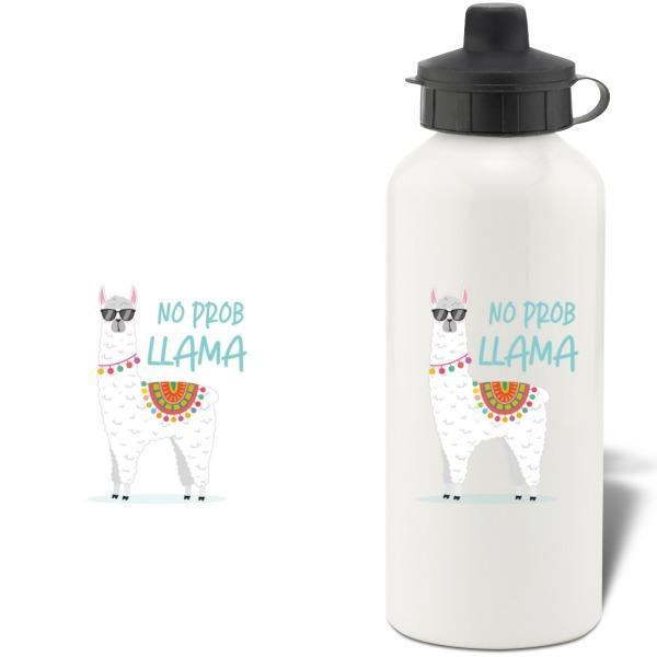 No Prob Llama Aluminium Water Bottle